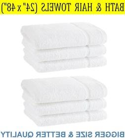 ⭐ 100% Cotton Bath Towels  for Hotel Spa Pool Gym - White