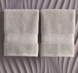Grund 13 in. x 13 in. Driftwood 2 Pk Luxury Spa Face Towels