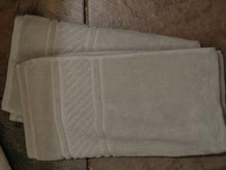 MARTHA STEWART 2 SPA JACQUARD BORDER SILVER PEARL HAND TOWEL