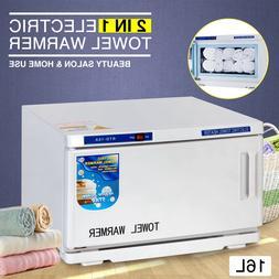 2in1 UV Sterilizer Facial Hot Towel Warmer Cabinet Spa Salon