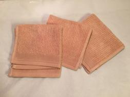 3 Pink CHRIS MADDEN Spa Towels JC Penney Home Collection Squ