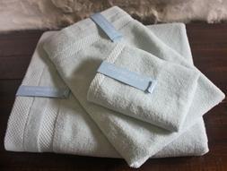Wedgwood Home 3Pc BATH Towel Set ~ Monarch Soft Spa Green ~