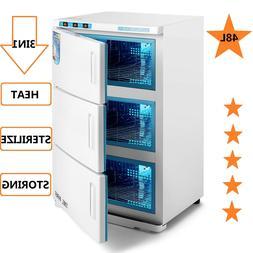 48L Hot Towel Warmer Cabinet UV Sterilizer Storing 3IN1 Prof