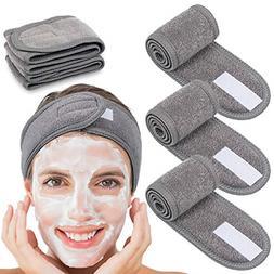 4Counts Spa Facial Headband Whaline Head Wrap Terry Cloth st