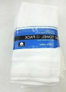 Grandeur Hospitality 8Pk White Spa Hand Towels Home Work Gue