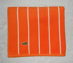 Lacoste Bath Spa Pool Beach Towel Cotton Orange Stripe Croc
