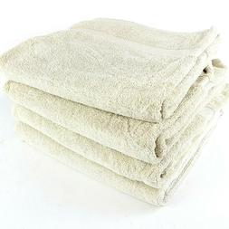 White Classic Bath Towels Large Cotton Hotel spa Bathroom To