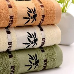 Bathroom Towel Bamboo Leaf Soft Bamboo Fiber Face Wash Towel