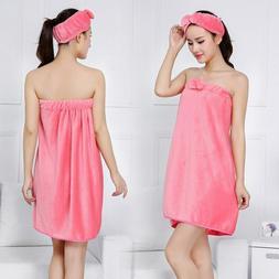 Bowknot Women Bath Towels Bath Robe Bathrobe Body Spa Bath B