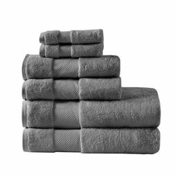 Madison Park Signature Cotton 6 Piece Bath Towel Set With Ch