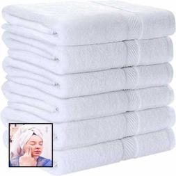 "Cotton Towels WHITE 22 X 44"" For Pool Spa & Gym Lightweight"