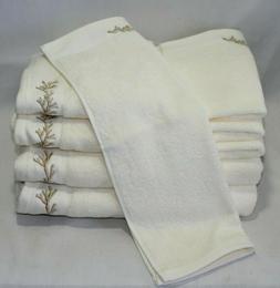Sage Island Spa Eight Piece Bathroom Towel Set Cream with Go
