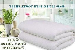 Extra Large Oversized Bath Towel White Bath Sheet 100% Cotto