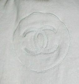 CHANEL Extra Large White Cotton Spa Bath Towel New