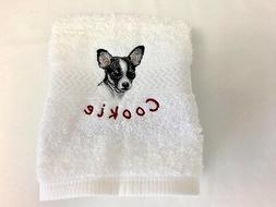 FREE Pet's Name - 50 Breed Choices - LUXURY SPA HAND TOWEL D