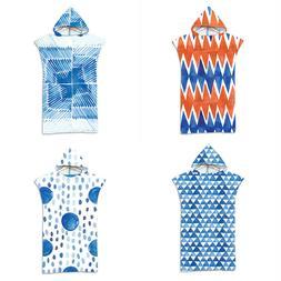 Geometric Zigzags Triangles Dots Stripes Hooded Towel Swim S