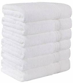 GraceAier Soft Cotton White Bath Towels for Hotel,Spa,Pool,G