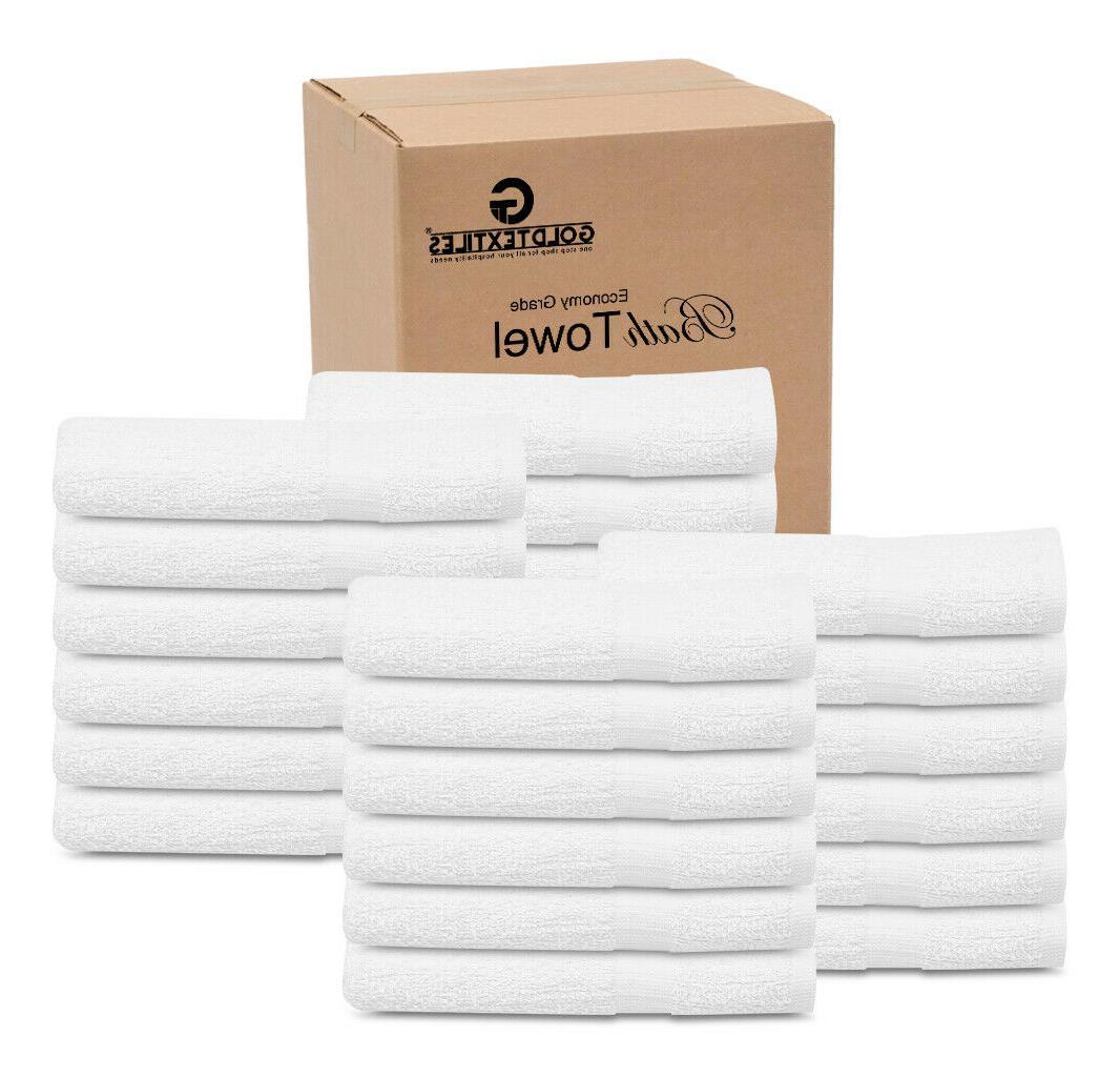 12 new white 22x44 100 percent cotton