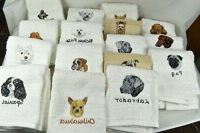 50 Breed Choices - LUXURY SPA TOWEL Dog Lover Gift