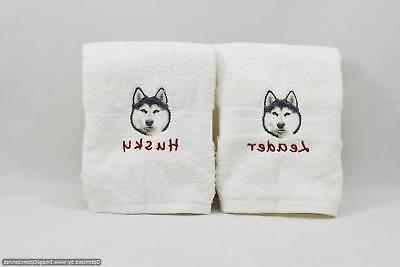 FREE Pet's Name 50 Breed Choices LUXURY HAND TOWEL Dog Gift