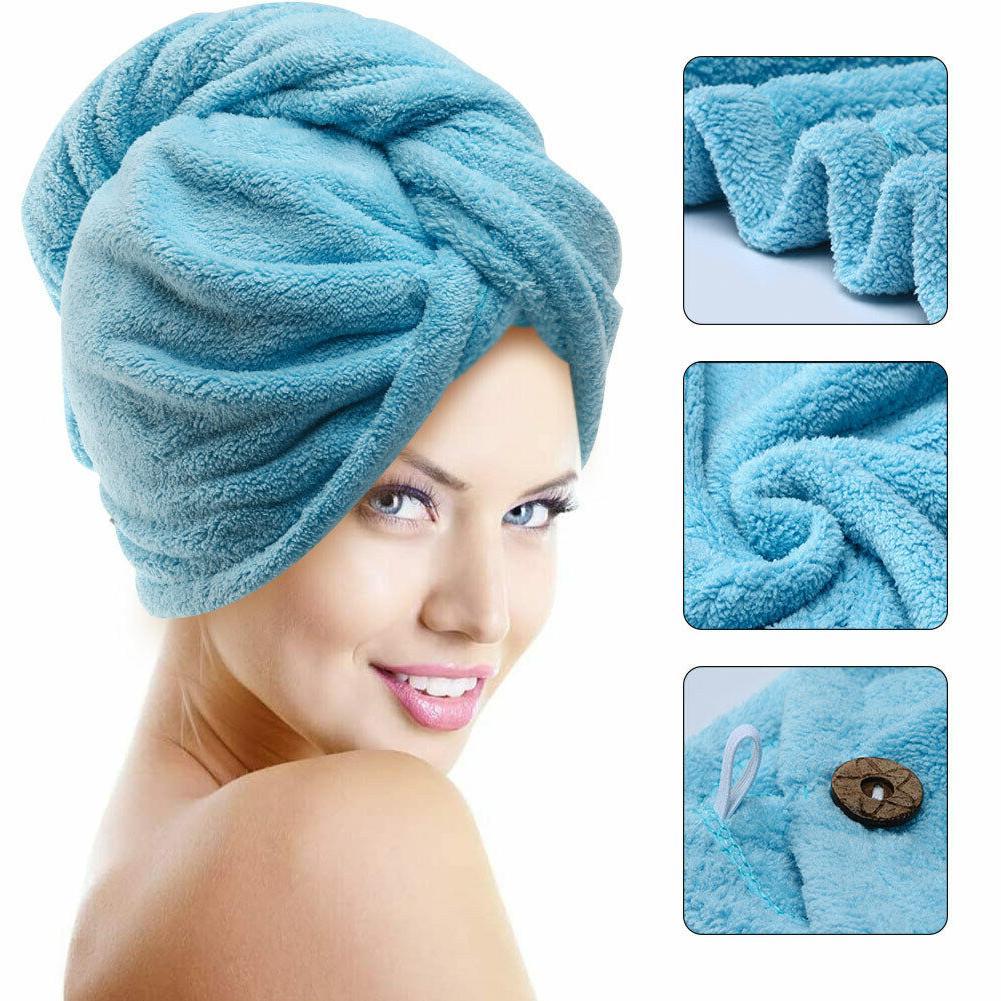 microfiber hair wrap towel drying bath spa