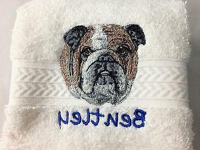 personalized dog luxury spa hand towel free