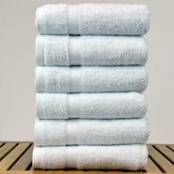 Luxury Hotel Spa 6-Hand Towels White 100% Genuine Turkish Co