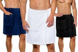 Men's ORGANIC Body WRAP Towel for Gym Spa Bath – Made in