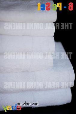 New 6 Piece Luxury Hotel & Spa Towel Premium Cotton Bamboo W