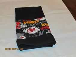 Handmade NFL Kansas City Chiefs Black Hand Towels