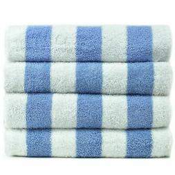 100% Cotton Pool Beach Towels - Light Blue - Cabana  - Set o