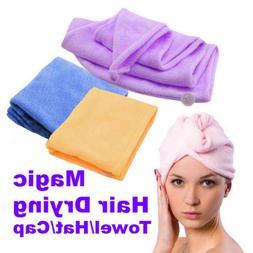 Quick Dry Microfiber Towel Hair Magic Drying Turban Wrap Hat