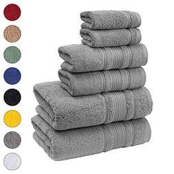 Qute Home Spa & Hotel Towels 6 Piece Towel Set, 2 Bath Towel