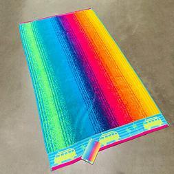 """Rainbow Stripe Surf Bus Palm Spa Ocean Beach Towel 40""""x 72"""""""