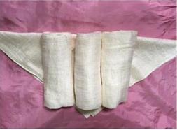 Set of 3 Raw Silk Washcloths, Spa face Towel, Raw Silk face