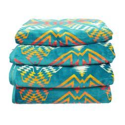 Set of 4 Pendleton Oversized Beach Spa Bath Towels Native Am