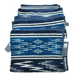 Set of 4 Pendleton Oversized Beach Spa Bath Towels Aztec Nav