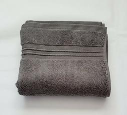 "Fieldcrest Spa 100% Cotton HAND Towel 16""x30"" Dark Gray, New"
