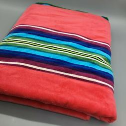 Pendleton Spa Bath Beach Towel Serape Stripe Hot Pink Large