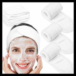 Spa Facial Headband Whaline Head Wrap Terry Cloth 4 Counts S