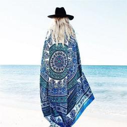 Square Chiffon Beach Towel Bath Towels Yoga Shawl Wrap tapes