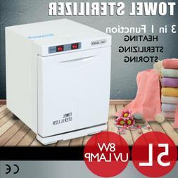 5L Hot towel Warmer Sterilizer Cabinet UV Heater Spa Massage