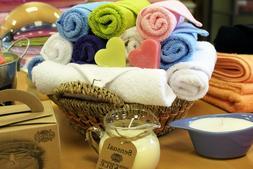 Towels of Toilet Sponge Cotton 30x30 Guest Hand Spa 500gr 9