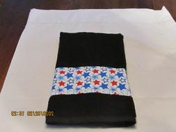 Handmade Veteran Black Hand Towels