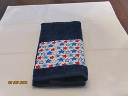 Handmade Veteran Navy Blue Hand Towels