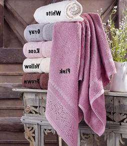 Washcloth Hand Bath Towel Set, 6 pack, 100% Turkish Cotton,