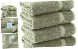 White Classic Luxury Bath Towels Large - Cotton Hotel spa Ba