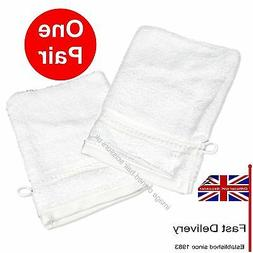 White Towelling Mitts PAIR for Manicure Pedicure Beauty Spa