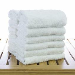 White Wash Cloths,Towels 100% Natural Cotton, 12 x 12, Comme