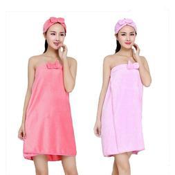 Women Bath Towels Bath Robe Bathrobe Body Spa Bath Bow Wrap